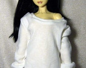 White baggy sweatshirt for SD, 1/3 bjd dolls