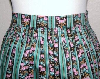 Original ALPEN TRACHTEN Cotton Dirndl Skirt size 38 with Smocking
