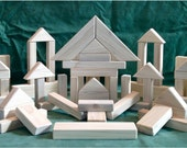 116 Classic Wood Building Blocks - Handcarfted Natural Wood Toy Blocks - LOWEST PRICE on ETSY
