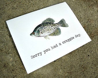 Crappy Crappie Day Card - Blank Greeting Card