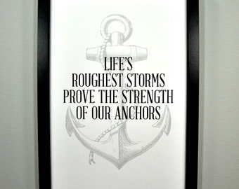 Life's Roughest Storms... FRAMED Print