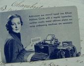 Antique Original Advertisement  Typewriter Trade Playing Cards
