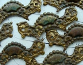 One Antique Salvaged Beautiful French Ornate Antique Hardware for Mixed Media or Jewelry