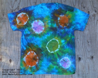 Head Trip Spots and Dots Tie Dye T-Shirt (Fruit of the Loom Size XL) (One of a Kind)