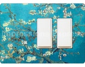 Almond Branches Van Gogh Painting Double Decora Rocker Light Switch Plate Cover