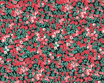 Liberty Fabric Wiltshire J Red Tana Lawn One Yard