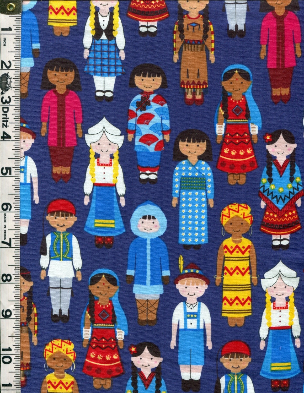 Fabric kaufman its a kids world multicultural international for Children of the world fabric