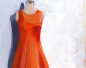 SHIFT, acrylic painting, still life, dress, fashion, vintage, by Heather Hingst Bennett