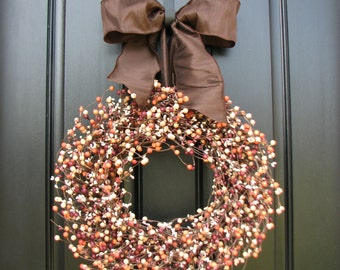 Harvest Wreaths - Fall Berry Wreaths - Harvested Berries - Fall Wreaths - Autumn Decor - Thanksgiving - Thanksgiving Feast