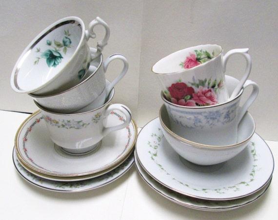Teacups saucers tea party 6 sets princess wedding favors for Teacup party favors