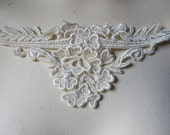 SALE Lace Applique in Ivory Venise Lace for Bridal, Straps, Veils, Sashes, Jewelry Design IA 4