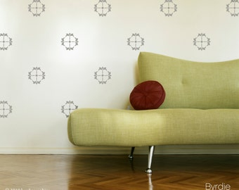 Vinyl Wall Decals- 50 Small Rosette Graphics style 2, Wallpaper, Stickers, item 10031