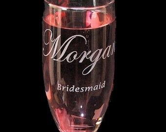 3 Hen Party Gifts, Bachelorette Party Gifts, Personalized Champagne Flutes for Bridesmaid, Maid of Honor
