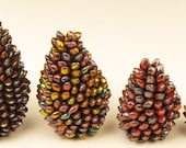 Bead Crochet Pine Cones Tutorial using Miyuki Long Magatma Beads