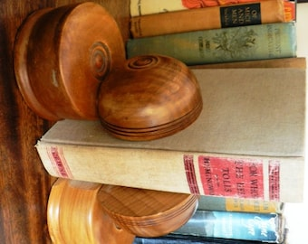 vintage office funk ... BOOKENDS DECO styled solid MAPLE wood  ...
