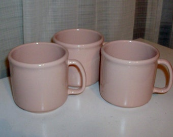 3 Piece Set of Rosy Pink Mugs by Tupperware
