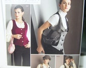 SALE Simplicity 2862 Women's Pattern -  High Fashion Lined Vest, Newsboy Cap, Wristlet, Purse and Tote Plus Size Pattern