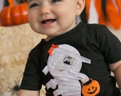 Personalized Halloween Boo Ghost Applique Shirt,  Ghost Shirt, Funky Ghost Fall Embroidered Shirt, Fall Applique Shirt, LDM