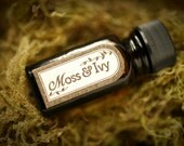 Moss and Ivy™ - natural perfume oil with oakmoss, basil, lavender, fresh herbs, leaves, woods, spring forest scent - For Strange Women