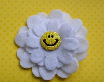 Happy Daisy Felt Flower Clip