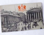 Antique Old LondonTuck and Sons Collectible Card - English Paper Ephemera - Antique Black and White Photography Postcard - London Souvenir