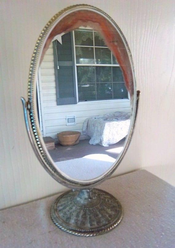 Vintage Swivel Vanity Mirror Stand