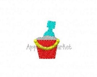 Machine Embroidery Design Beach Bucket Mini INSTANT DOWNLOAD
