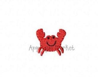 Machine Embroidery Design Embroidery Crab Mini INSTANT DOWNLOAD