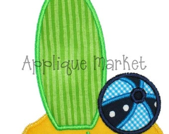 Machine Embroidery Design Applique Surf and Sand INSTANT DOWNLOAD