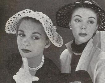1951 Sunday Hat Vintage Crochet Pattern 059