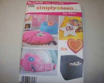 New Simplicity Teen Room Accessories  Pattern, 5105 (Free US Shipping)