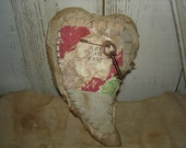 Valentine Heart Key to My Heart, Primitive, Rustic, Valentines Day, Home Decor, Heart. Ofg, Faap. Hafair, Dub