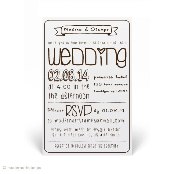 Custom Wedding Stamp Wedding Invitation Stamp By