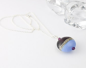 Periwinkle Lampwork Necklace