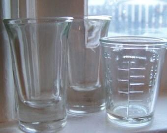 Three Vintage Shot Glasses