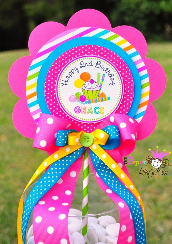 Candyland centerpiece deluxe birthday centerpiece candyland - Candyland party table decorations ...