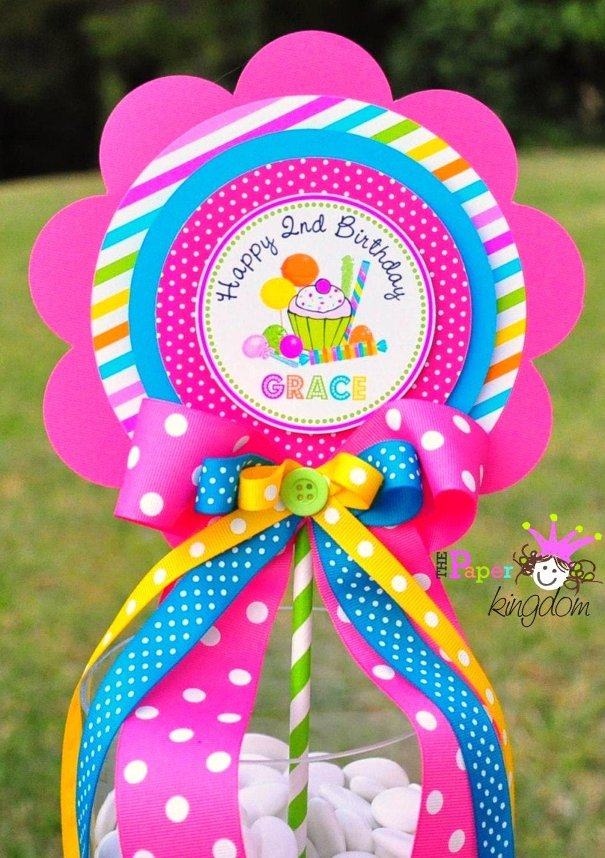 Candyland centerpiece deluxe birthday