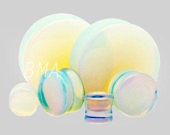 "1/2"" Opalite Glass Plugs (13mm)"