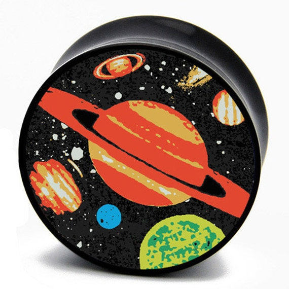"""1/2"""" (13mm) Planets in the Universe BMA Plugs Pair"""