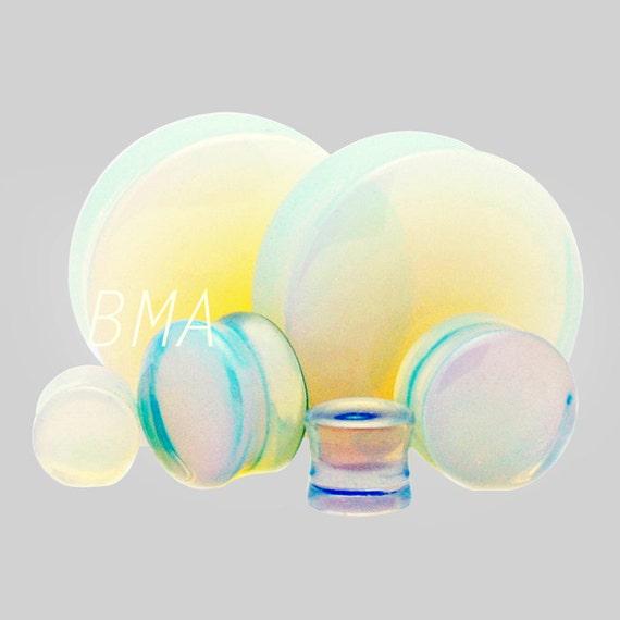 Etsy Plugs 00g 00g Opalite Glass Plugs