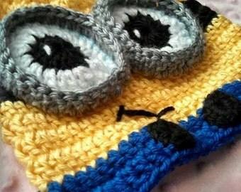 Minion inspired Hat newborn to 5 years