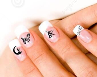 24 Fairies Butterflies and Dragonflies Nail Decals