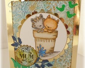Pots of love : Mother's Day or Mum's birthday - gorgeous handmade card