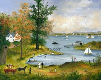 Autumn on Nantucket Sound - Limited Edition Print _ by J.L. Munro