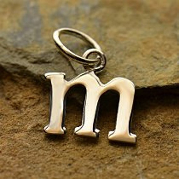 M Letter In Silver Silver Letter m...