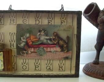 Odette - Vintage Assemblage Shadow Box