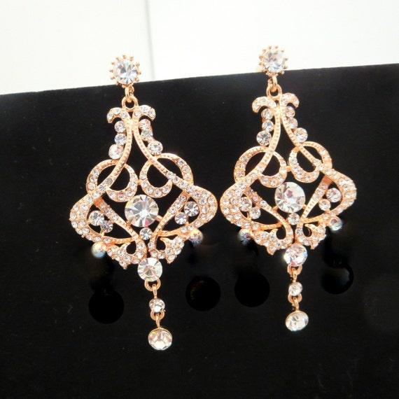 chandelier ohrringe gold