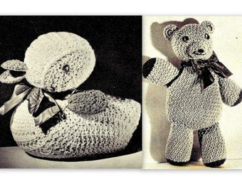 Duck and Teddy Bear Crochet Patterns 723159, 723160