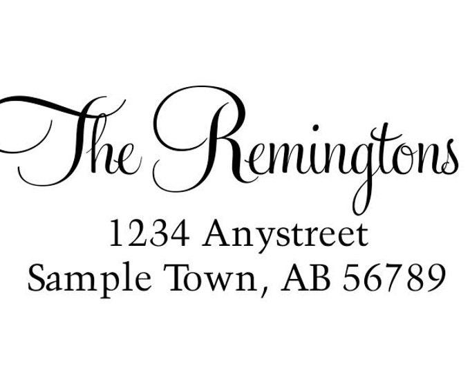 Personalized Self Inking Return Address Stamp - self inking address stamp - Custom Rubber Stamp R164