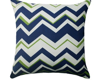 Chevron Outdoor Pillow - Richloom Tempest Navy Chevron Outdoor Pillow Free Shipping
